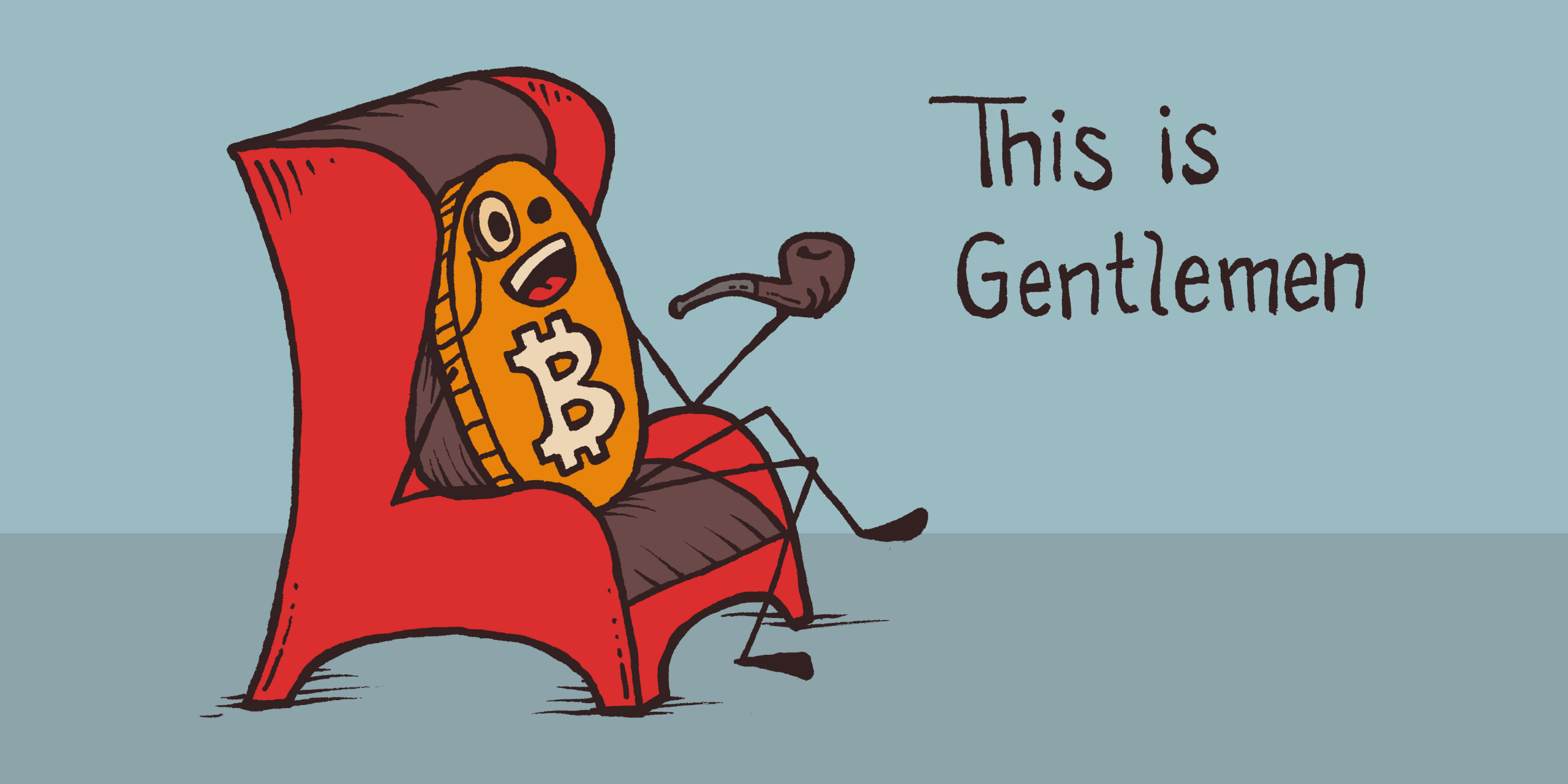 This is Gentlemen Bitcoin roller coaster guy with pipe in throne