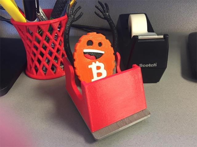 3D printed bitcoin coaster