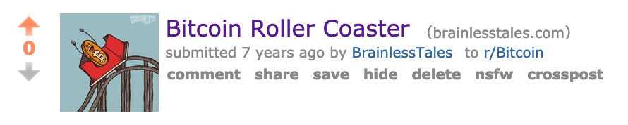 first reddit post of bitcoin roller coaster guy