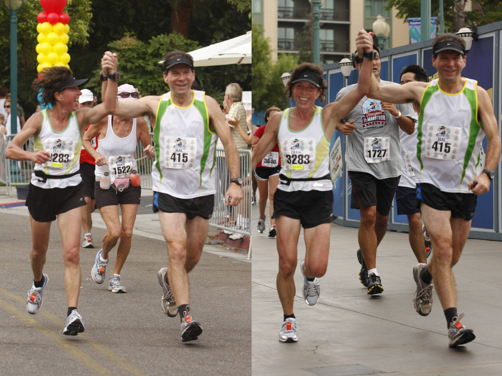 Fran and Hal Finney running race