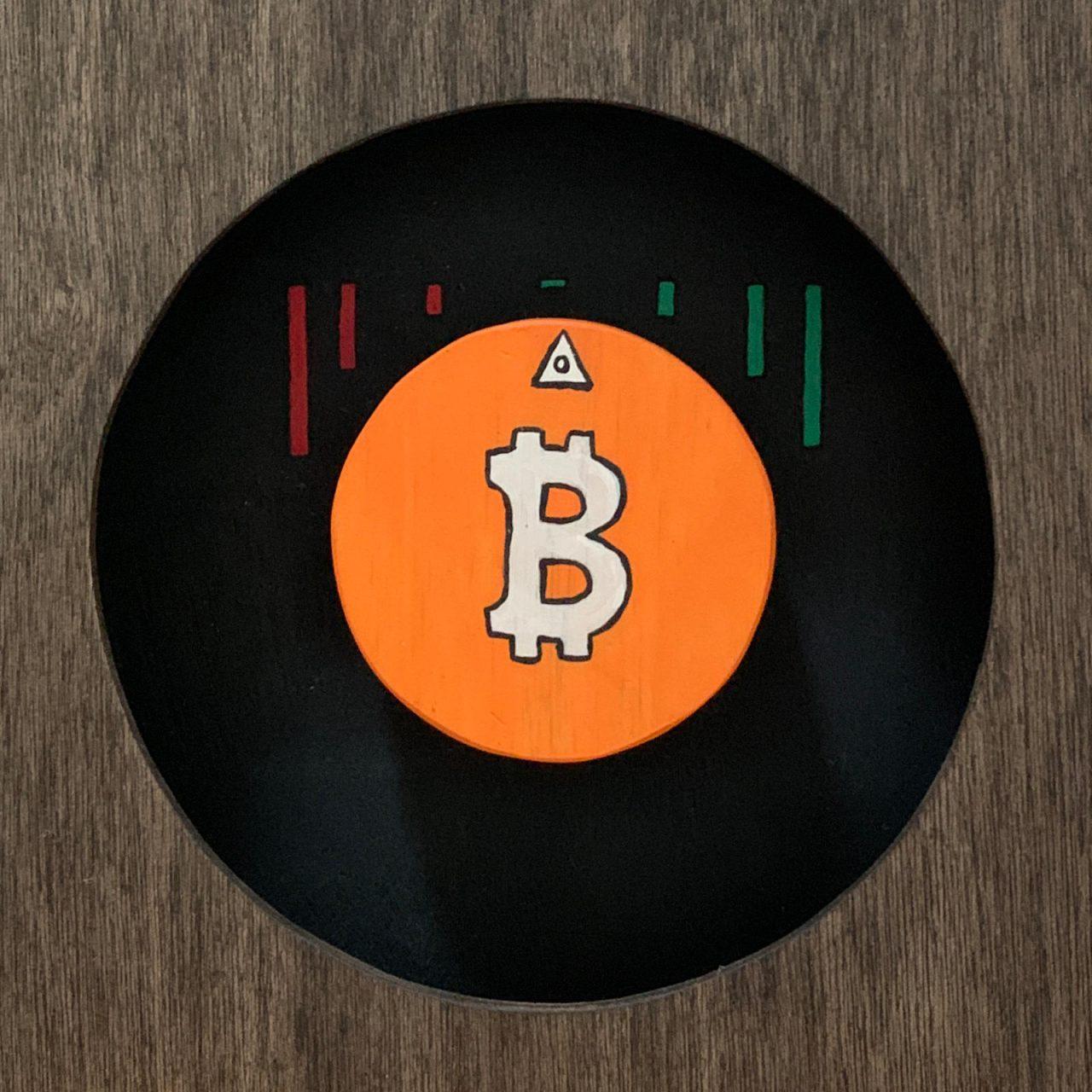 Bitcoin sculpture back